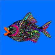 Fish 2 Colouring Stretched, 90 x 90 cm