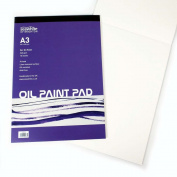 10 Sheets Linen Textured Surface - A3 Oil Painting Pad - 240 gsm - Acid Free
