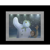 "23x18cm The Snowman & The Snowdog ""Wish Upon a Shooting Star"" Framed Canvas"