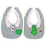 Yiwa Baby Cute Lovely Cotton Drooling Teething Waterproof Bib Cloth with 2 Adjustable Snaps