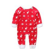 Amur Leopard Infant Baby Bodysuit Cartoon Print Long Sleeve Jumpsuit Christmas Romper