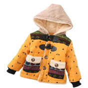 Baby Toddler Boys Girls Autumn Winter Hooded Coat Cloak Thick Warm Clothes Beauty Top