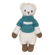 Children's Standing Bear Knitted Toy - Pink or Blue - Free Delivery