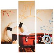 Group Asir LLC 251TRE1950 Three Art Decorative Painting MDF, Multi-Colour