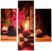 Group Asir LLC 251TRE1921 Three Art Decorative Painting MDF, Multi-Colour