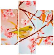 Group Asir LLC 251TRE1920 Three Art Decorative Painting MDF, Multi-Colour