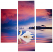 Group Asir LLC 251TRE1910 Three Art Decorative Painting MDF, Multi-Colour