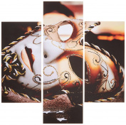Group Asir LLC 251TRE1909 Three Art Decorative Painting MDF, Multi-Colour
