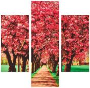 Group Asir LLC 251TRE1973 Three Art Decorative Painting MDF, Multi-Colour