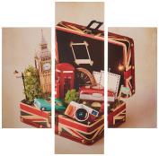 Group Asir LLC 251TRE1979 Three Art Decorative Painting MDF, Multi-Colour