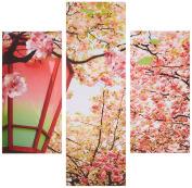 Group Asir LLC 251TRE1937 Three Art Decorative Painting MDF, Multi-Colour