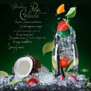 Pro-Art Bilderpalette GLA1104A Glass Wall Art 'Pina Colada'30 x 30 CM