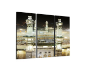 Muslim Prayer 3-Piece Wall Picture on canvas and stretcher frame ready to hang – Our Space Canvas Picture Feature [Ready to Detailed Print up to 100 Megapixels.