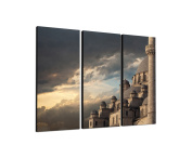 3-Piece Wall Picture on canvas and stretcher frame ready to hang – Our Istanbul Mosque Canvas Picture Feature [Ready to Detailed Print up to 100 Megapixels.