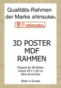 EMPIRE Merchandising 534477 Brand Shinsuke Removable Frame for 3D Posters of Size – 30 X 42 CM Heavy MDF Fibreboard Material. External Dimensions 34.7 x 47 cm 30 mm Profile/Oak