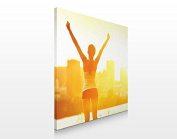 APALIS Assorted Designs Canvas Picture 70 x 70 cm, Good Morning Sunschine, 70 x 70