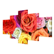 TSJT Canvas Wall Art Extra Large Canvas Prints Roses Nordic Home Decoration Painting (Multi-Size Optional) , Without Borders , SizeA