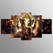 TSJT Modern Giclee Canvas Prints Artwork Canvas Indian Buddha Poster HD Print Decorative Wall Painting (5 sheets/set) , Without Borders , SizeB