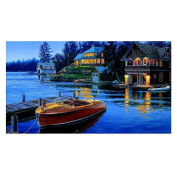 House by the Sea 5D Diamond DIY Painting Embroidery Kit Home Decor 40X25cm 5D Diamond Painting Full Drill