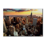 Canvas panel Canvas USA New York Sunset Panoramic View Furniture City landscapes
