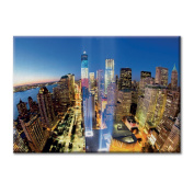 Canvas panel Canvas USA New York Manhattan Tribute in Light World Trade Centre Furniture City landscapes