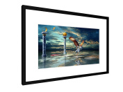 """Zodiac Gemini - 23,62"""" x 15,75"""" inch (60x40 cm) - Picture with frame / Framed poster - Art print - wall art - artists, paintings, photography - Star Sign"""