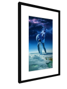 """Aquarius - 15,75"""" x 23,62"""" inch (40x60 cm) - Picture with frame / Framed poster - Art print - wall art - artists, paintings, photography - Star Sign"""