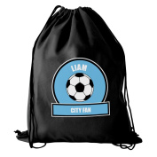Sky Blue Football Fan Kit Bag Personalised Whether Its Used For Swimming, Football Practise Or