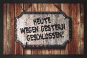 EMPIRE Merchandising 662927 Heute Wegen Gestern Geschlossen, Doormat 60 x 40 cm Polypropylene