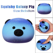 Scented Squishy, JYC Cute 9cm Galaxy Pig Cream Scented Squishy Slow Rising Squeeze Toys Phone Charm