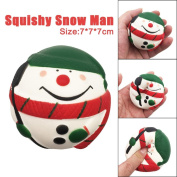 Santa Claus Scented Squishy, JYC 7cm Exquisite Snow Man Scented Squishy Charm Slow Rising Simulation Kids Toys