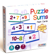 Prepare Them For School - Lets Learn Puzzle Sums - Fun Idea For Boy Boys Girl Girls Kids Children Child - Ideal Fun Toys & Games Present Gift Idea for Christmas Xmas Stocking Filler Top Ups Birthdays Easter Rewards Treats Pocket Money Age 3+ One Supplied