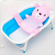 Fengh Cute Baby Bath Seat Net Support Sling Shower Mesh Bathing Cradle Hammock