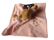 MaxiMo Baby Comforter, Comfort Blanket, Teddy Pink For Girls