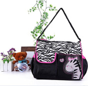 Kingwin Multifunctional Nappy Nappy Changing Bag Mummy Handbag Cartoon Rosy Zebra Pattern