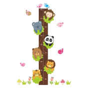 Cartoon Panda Cute Height Chart Wall Sticker Kids Room Wall Decals
