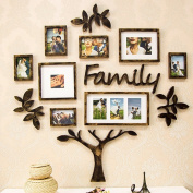 American family portrait photo wall combination creative decoration photo wall living room bedroom photo wall
