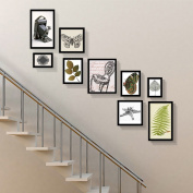 Simple modern staircase photo wall combination creative corridor decoration photo wall