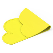 Welim Table Mat Silicone Placemat Slip Resistant Mat Tableware Mat Foldable Placemat for kids cloud shape yellow