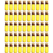 LoKauf 50pcs 1ML Cork Bottle Glass Bottles with Cap