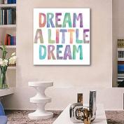 GAG-Decorative paintings@Stretched Canvas Art Colour English Word Decoration Painting One Pcs , 50cm x 50cm