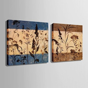 GAG-Decorative paintings@Stretched Canvas Art Small Flower Pattern Decoration Painting Set of 2 , 60cm x 60cm