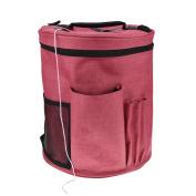 Large Knitting Storage Bag, Yarn Tote Organiser Case Crochet Hook Bag with Pockets