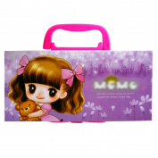 LA HAUTE Girls Pencil Case Cute Princess Pencil Bags Stationery Organiser Box Holder with Code Lock Good School Gift