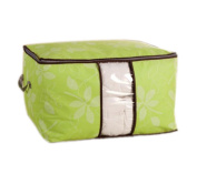 WDOIT 1PCS Non - woven Fabric Bed Bag Dust - proof Storage Bag Portable Luggage Bag Environmental Protection Large - capacity Storage Bags Green