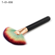 ALCYONEUS 1Pc Fan-Shaped Concealer Face Makeup Brushes Foundation Tool Powder Brush Black + Golden size T-01-008