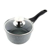 SDS-COM 16Cm Milk Pot Small Pot Non-Stick Hot Milk Pot Without Oil Fume Baby Auxiliary Food Small Pots