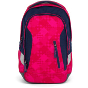 SATCH Cherry Cheques School Backpack, 45 cm, 24 litres, Pink