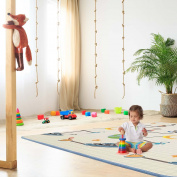 Baby Vivo Play mat two-sided children's playing rug with alphabet baby crawl carpet foam kid toddler playmat play blanket educational toys fun 200 x 180 cm - Galaxy