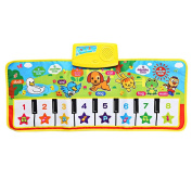 Maistore 71X28cm Children English Musical Piano Music Carpet Baby Kids Play Mat Blanket Educational Electronic Toys Gift